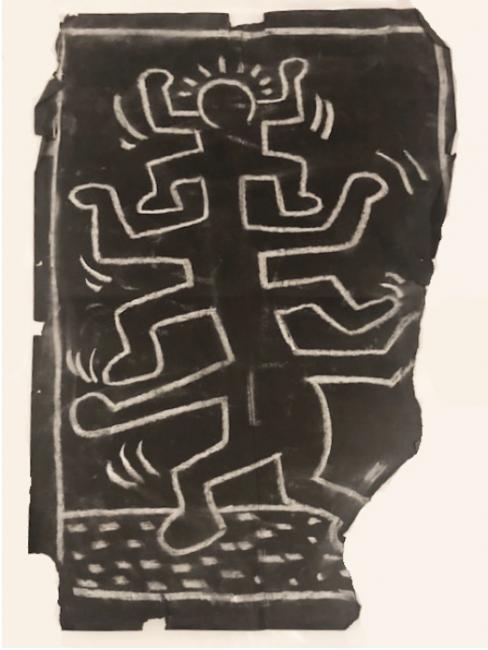 Subway Drawing by Keith Haring