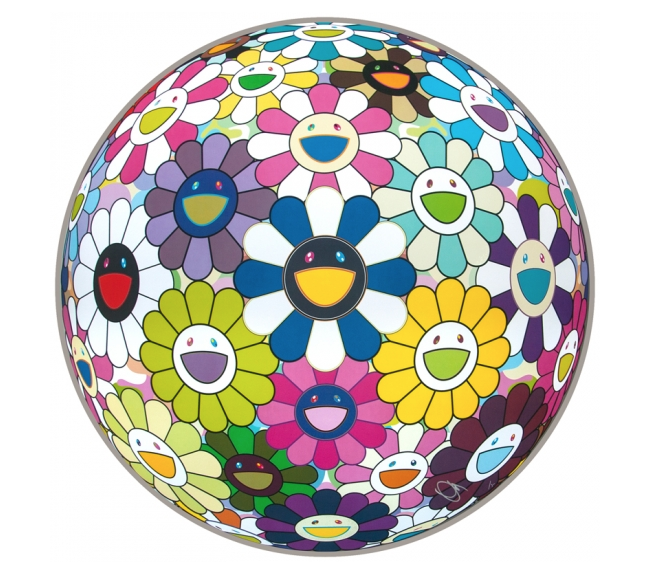 Flower Ball Awakening by Takashi Murakami