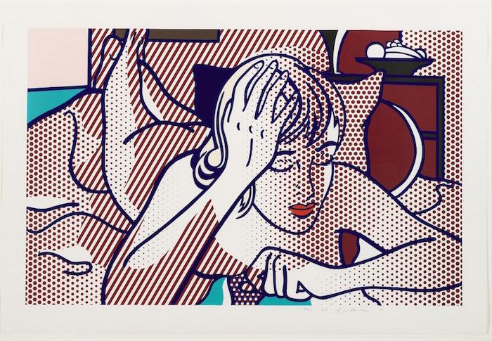Thinking Nude State I by Roy Lichtenstein