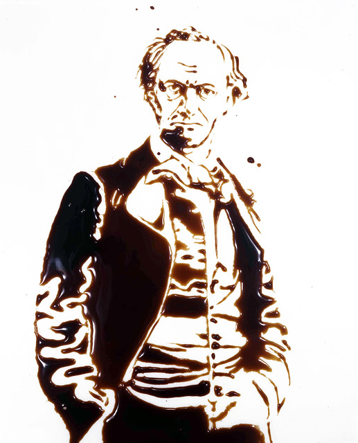 Charles Baudelaire from Pictures of Chocolate by Vik Muniz