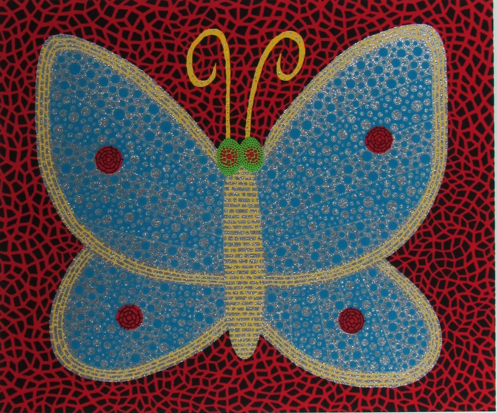 Yayoi Kusama Butterfly II , from Eternal Love Series