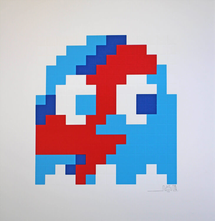 Aladdin Sane (Blue) by Invader