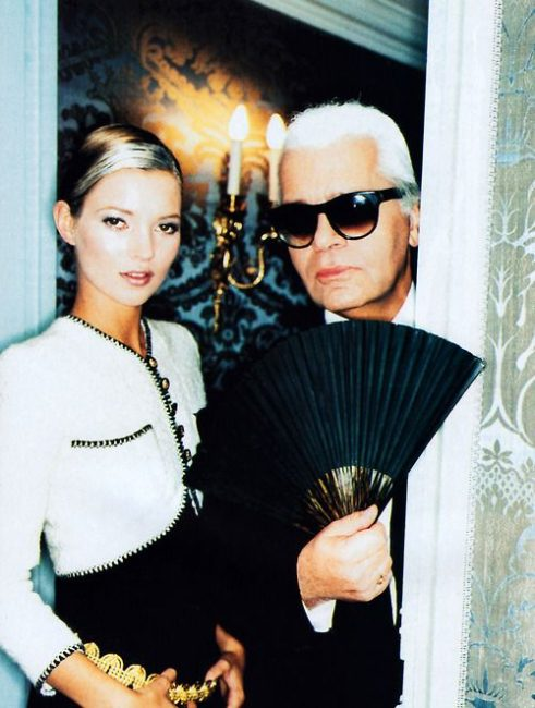 Kate Moss and Karl Lagerfeld, 1996 by Ellen Von Unwerth