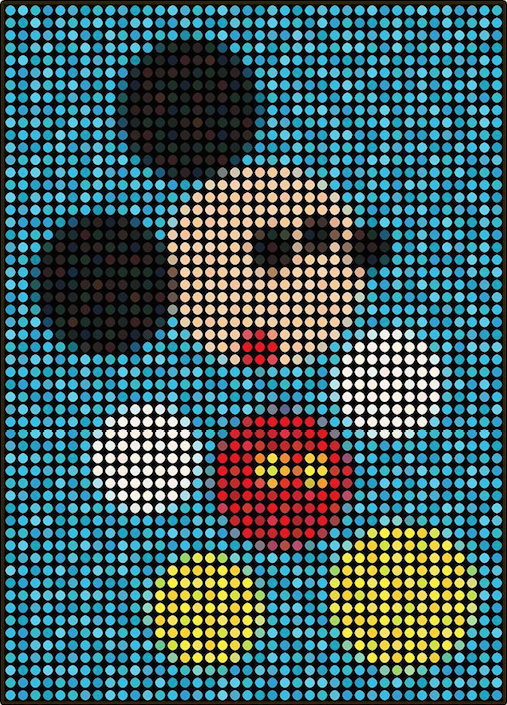 Mickey Damien Blue by Dimitri Likissas