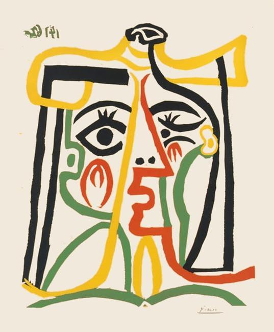 Portrait de Jacqueline au chapeau de paille by Picasso
