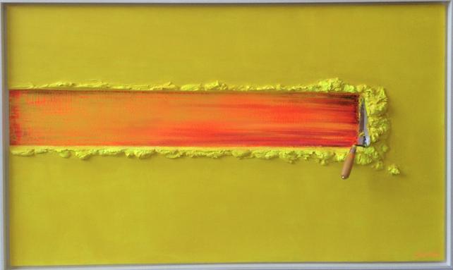 Spatule Jaune et Orange by Jean Paul Donadini