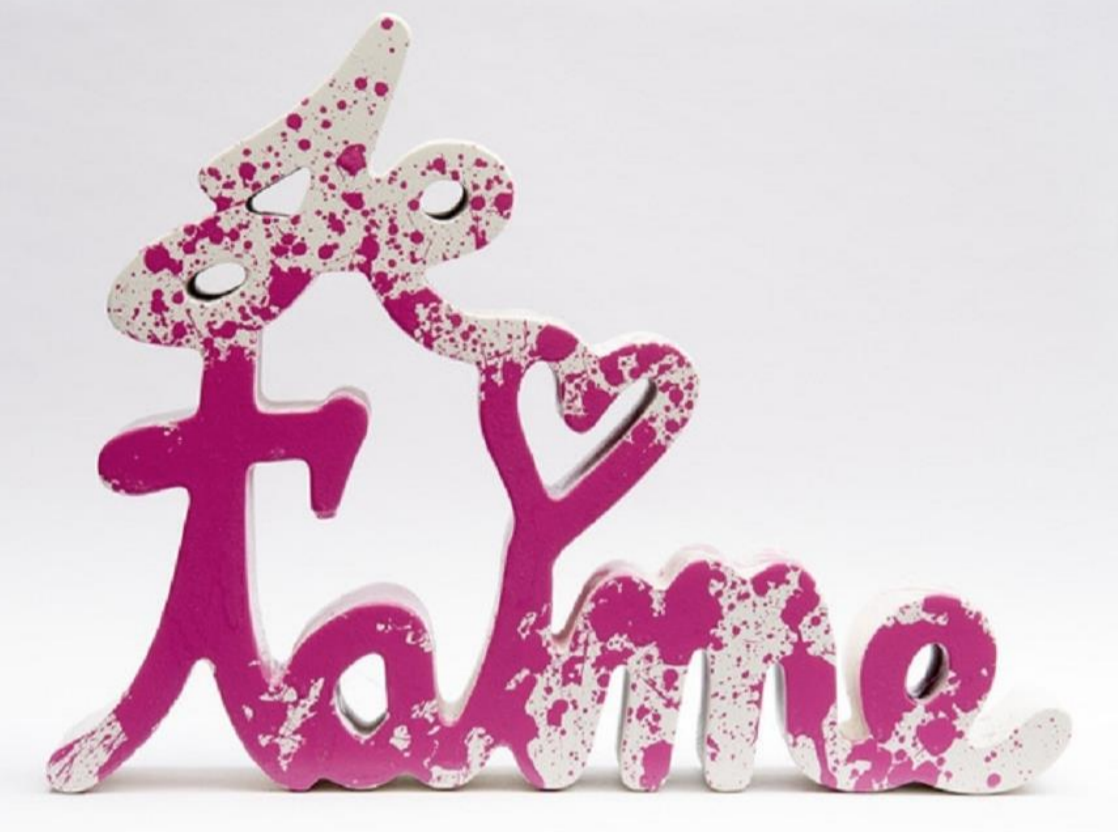 Je t'aime – Splash Series (Pink) by Mr. Brainwash