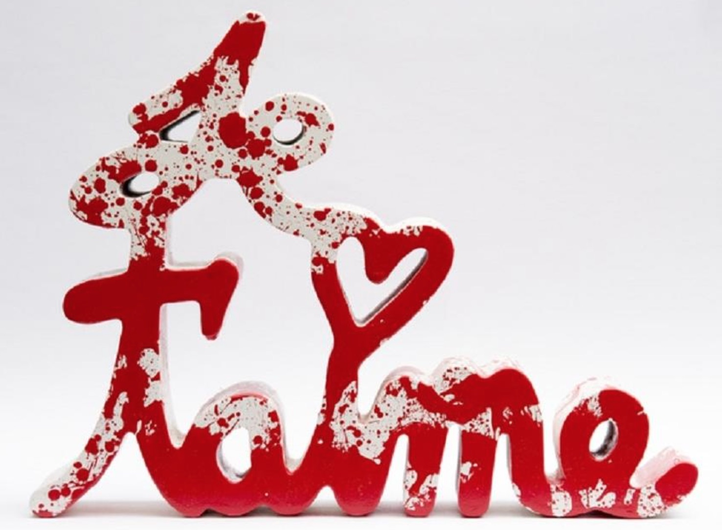 Je t'aime splash series by mr. brainwash