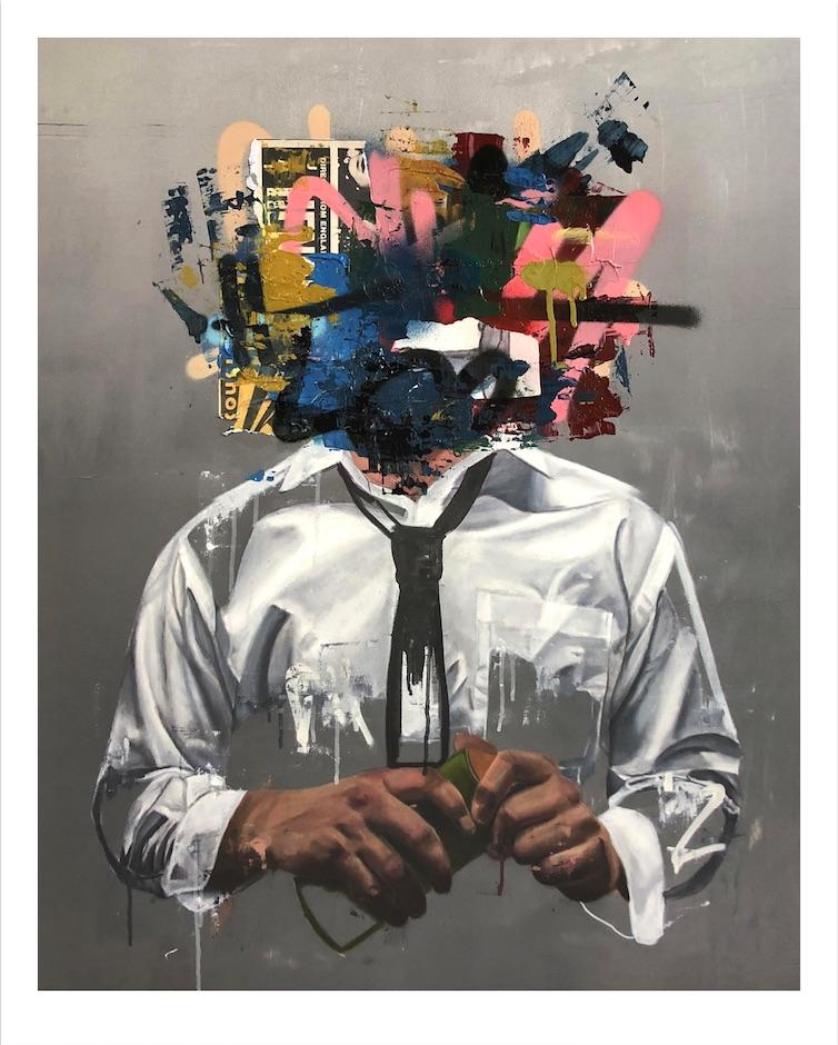 Self-Portrait (Hand Embellished Print #3) by Sage Barnes