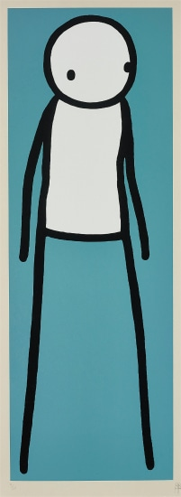 Walk (Teal) by STIK