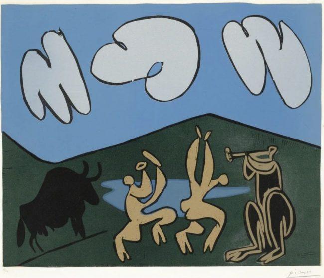 Bacchanale au Taureau Noir by Picasso