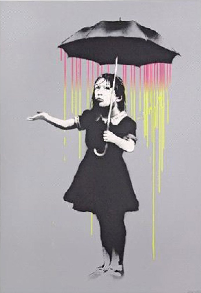 Nola Pink/Yellow by Banksy