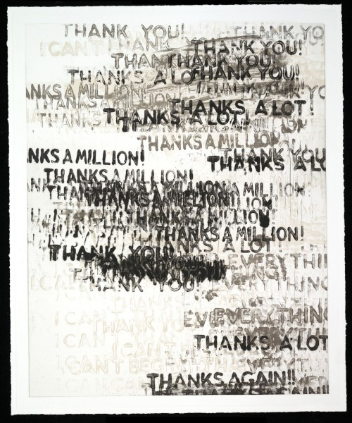 Thank You (black adn white) by Mel Bochner