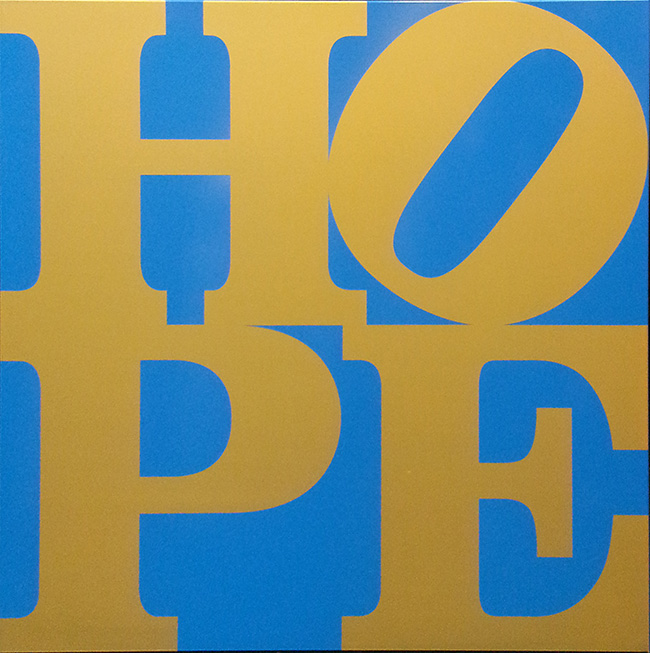 Hope (Blue and Gold) by Robert Indiana