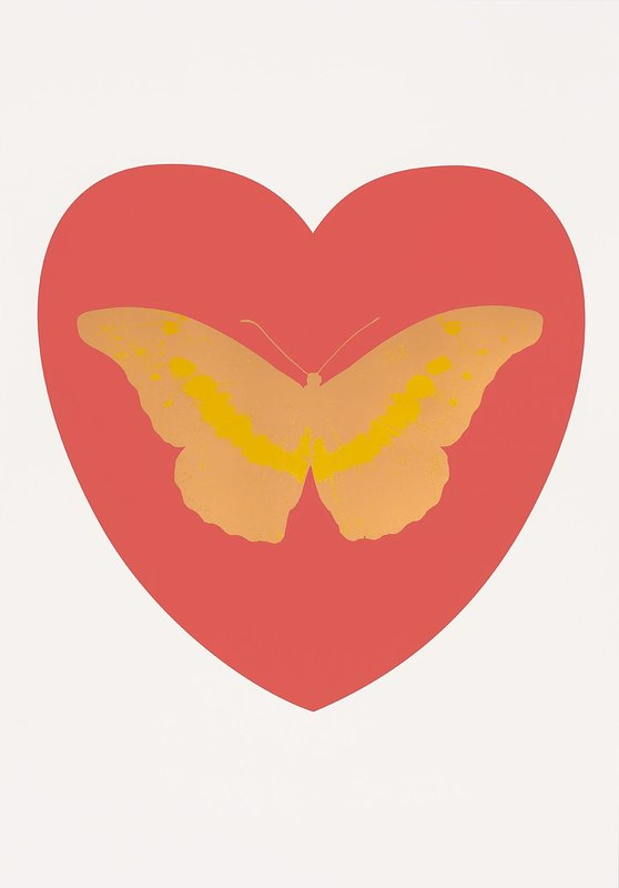 I Love You (Coral, Cool Gold, Oriental Gold) by Damien Hirst