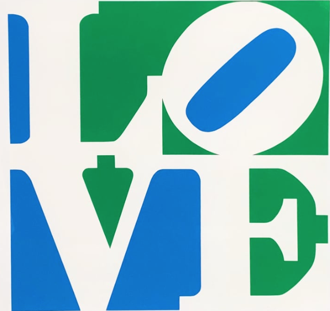 Love (Blue, Green, and White) by Robert Indiana