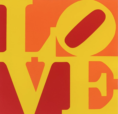 Love (Yellow, Orange, Red) by Robert Indiana
