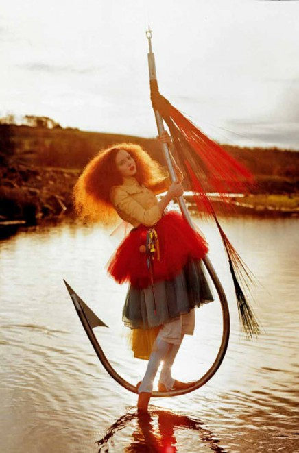 Lily on Fish Hook by Tim Walker