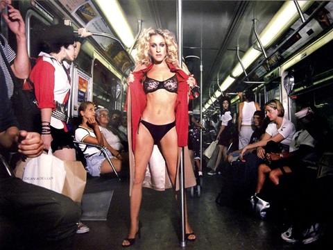 Sex in the subway by David LaChapelle