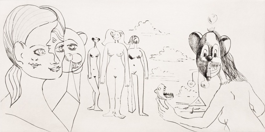 Imaginary people by George Condo