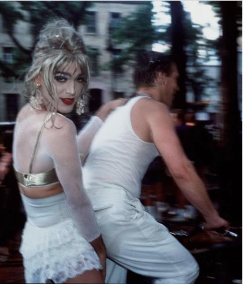 Jimmy Paulette on David's Bike,1991 by Nan Goldin