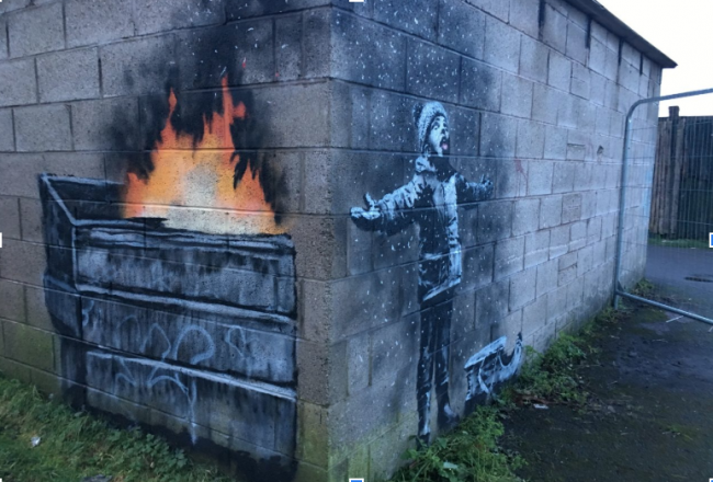 Port Talbot Graffiti by Banksy