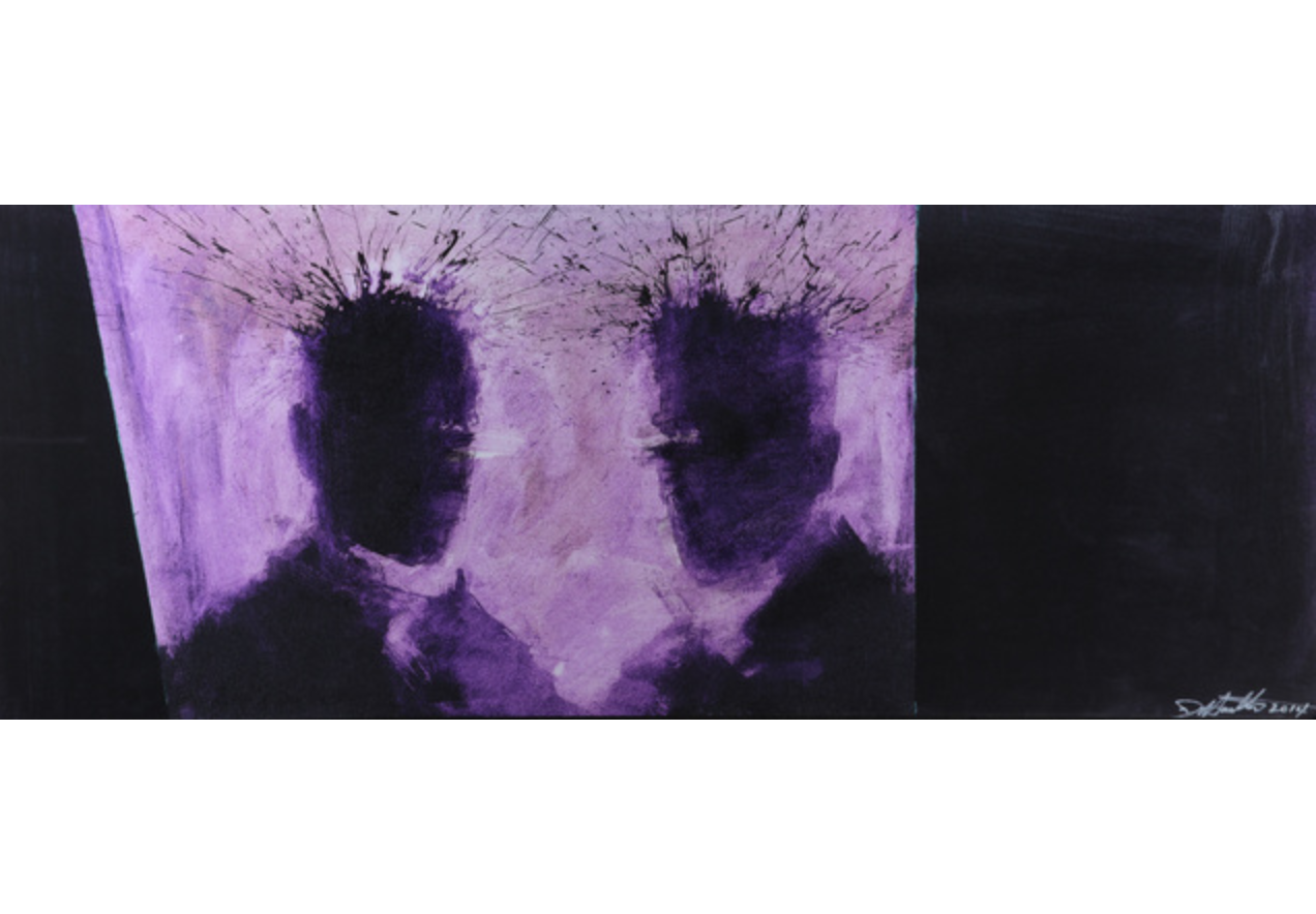 Purple Shadow Head by Richard Hambleton