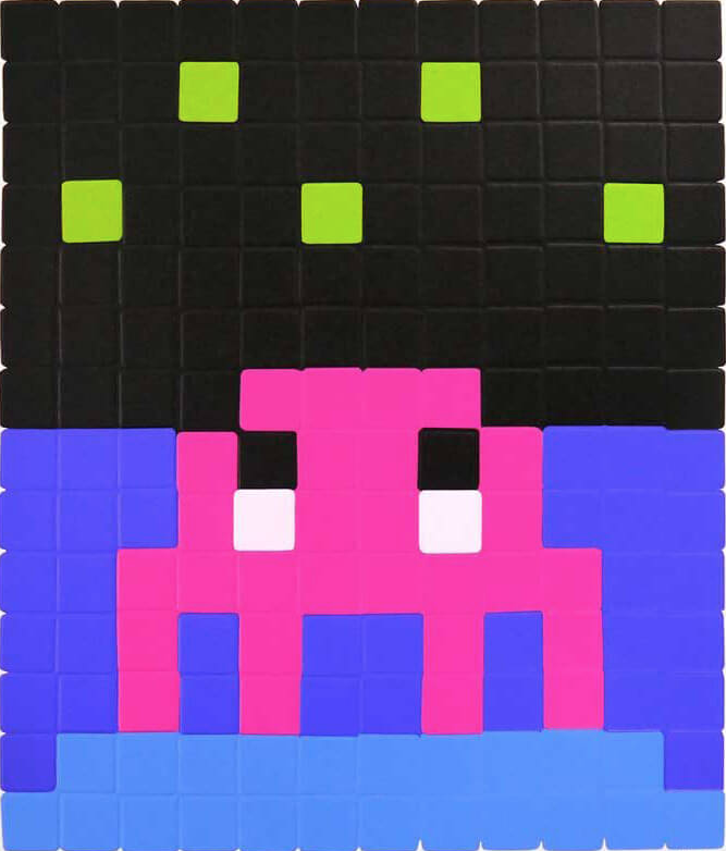 Space One (Pink) By Invader