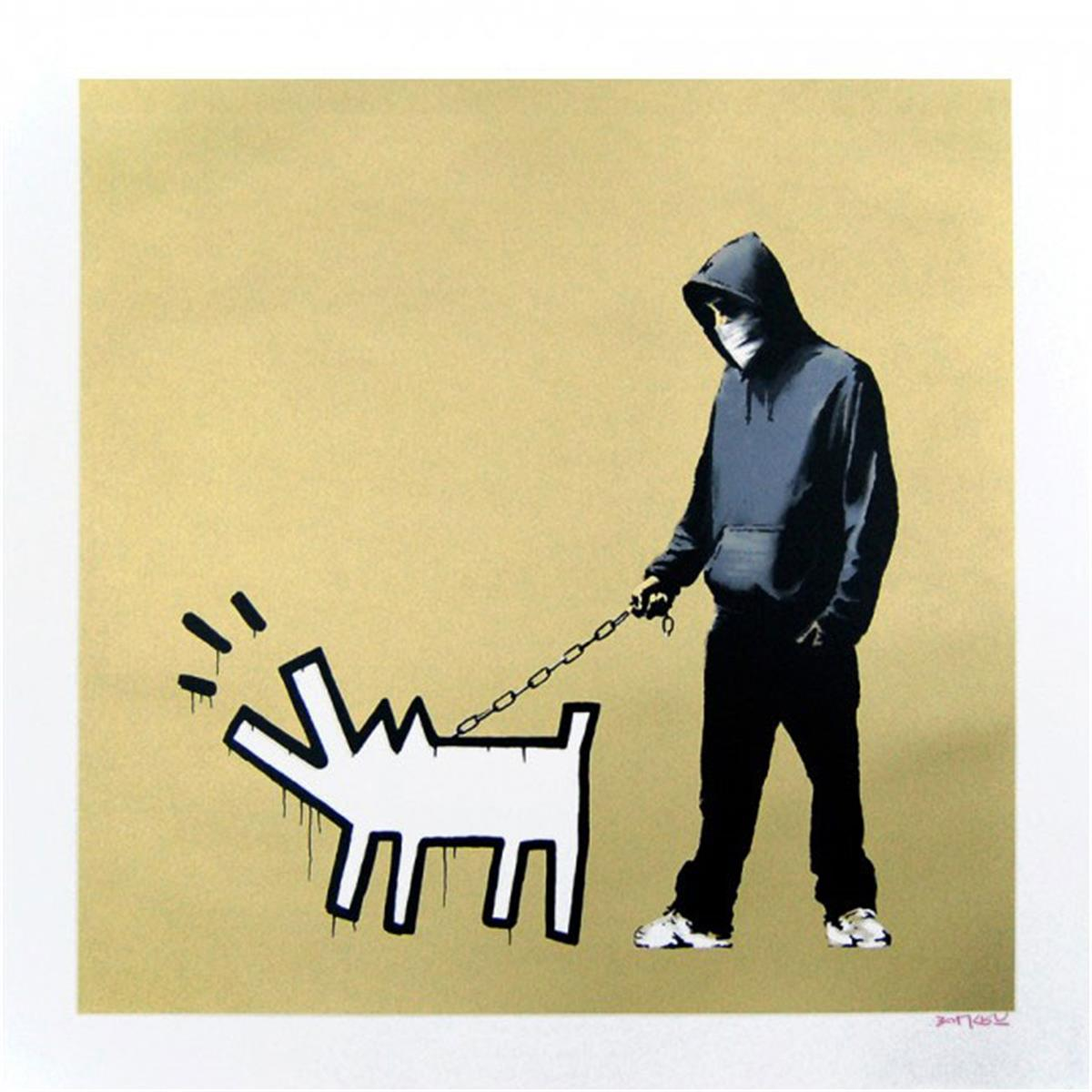 Choose Your Weapon Gold by Banksy