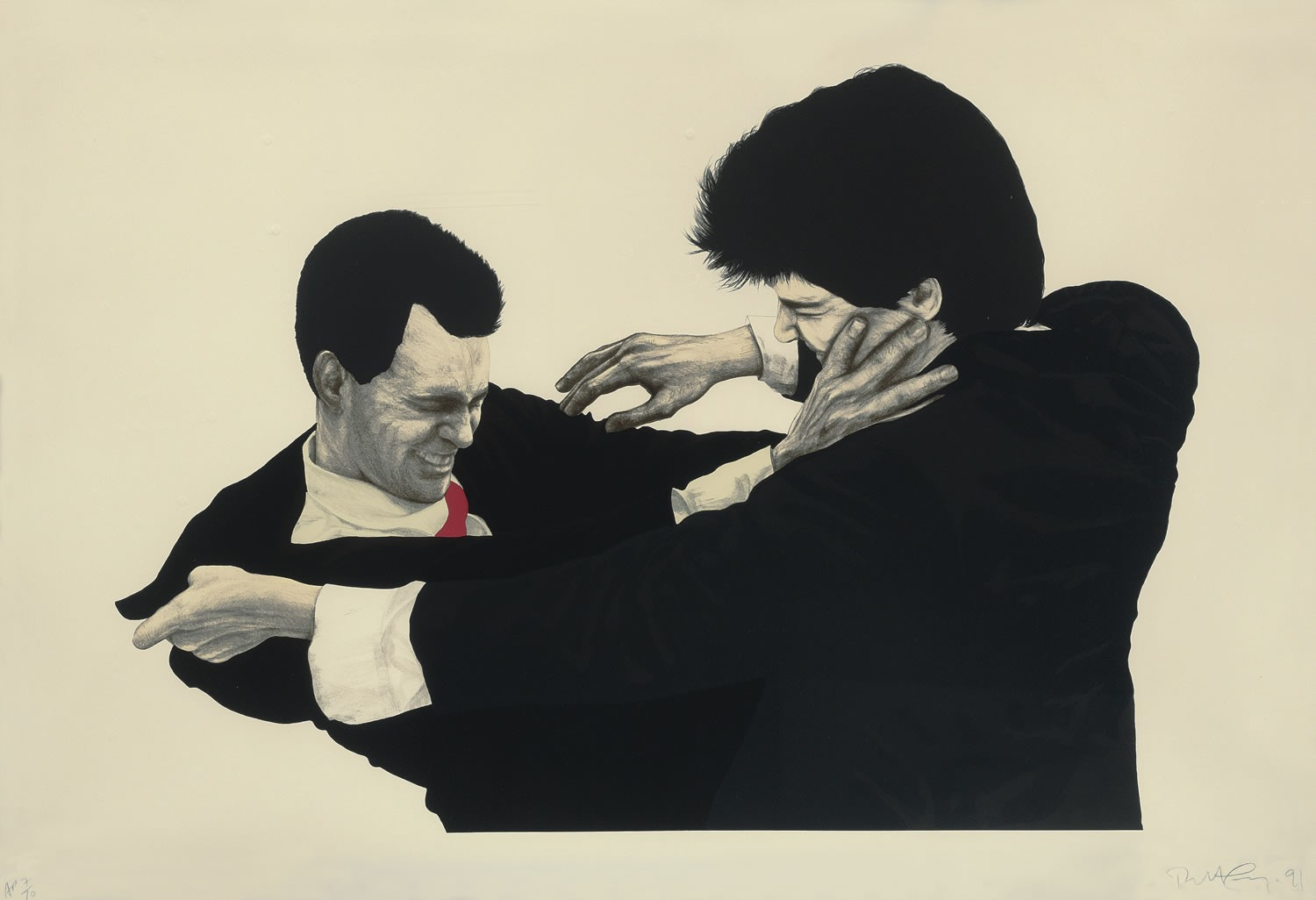 Frank and Glenn, 1991 by Robert Longo