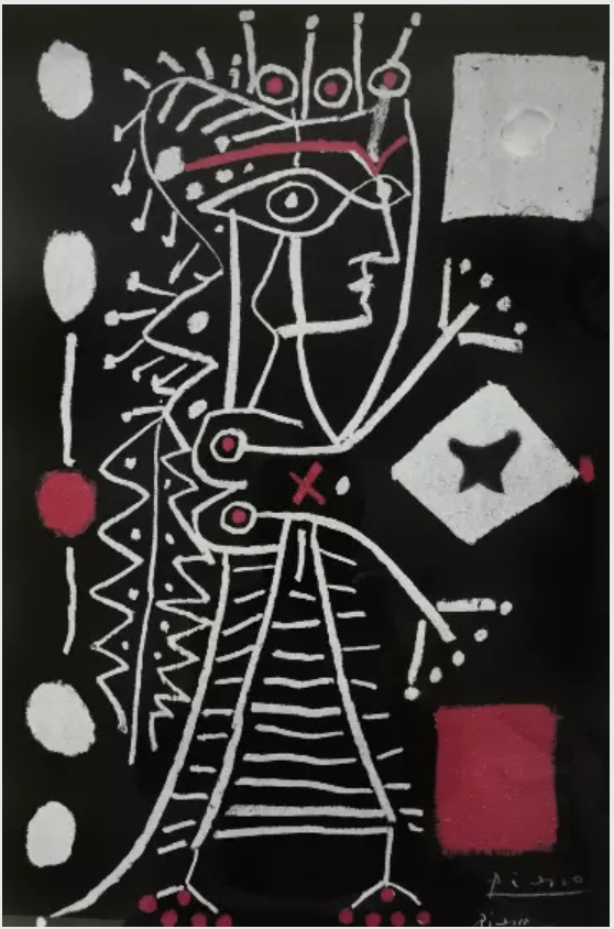 Jacquline with Dice by Pablo Picasso