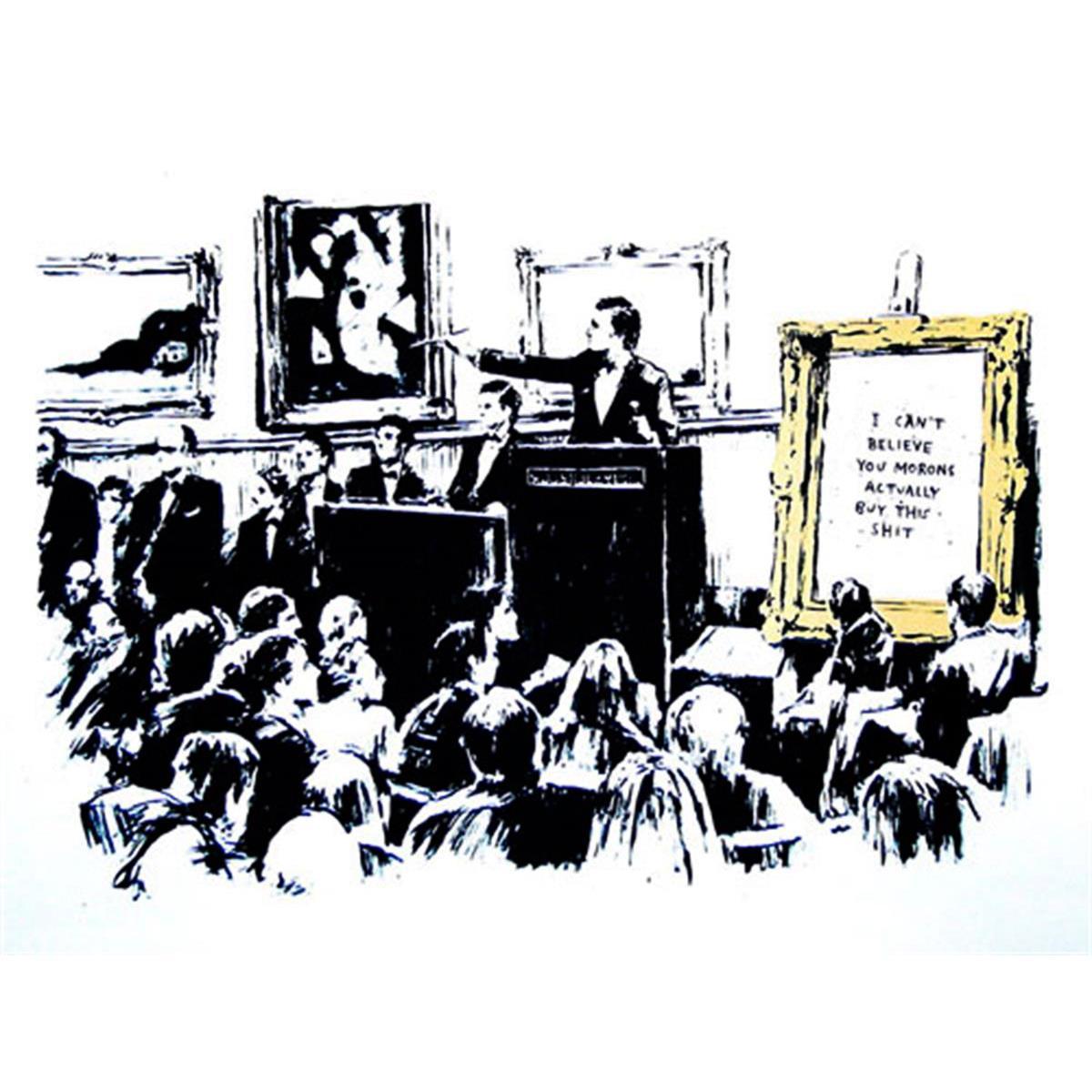 Morons (LA Edition White) by Banksy