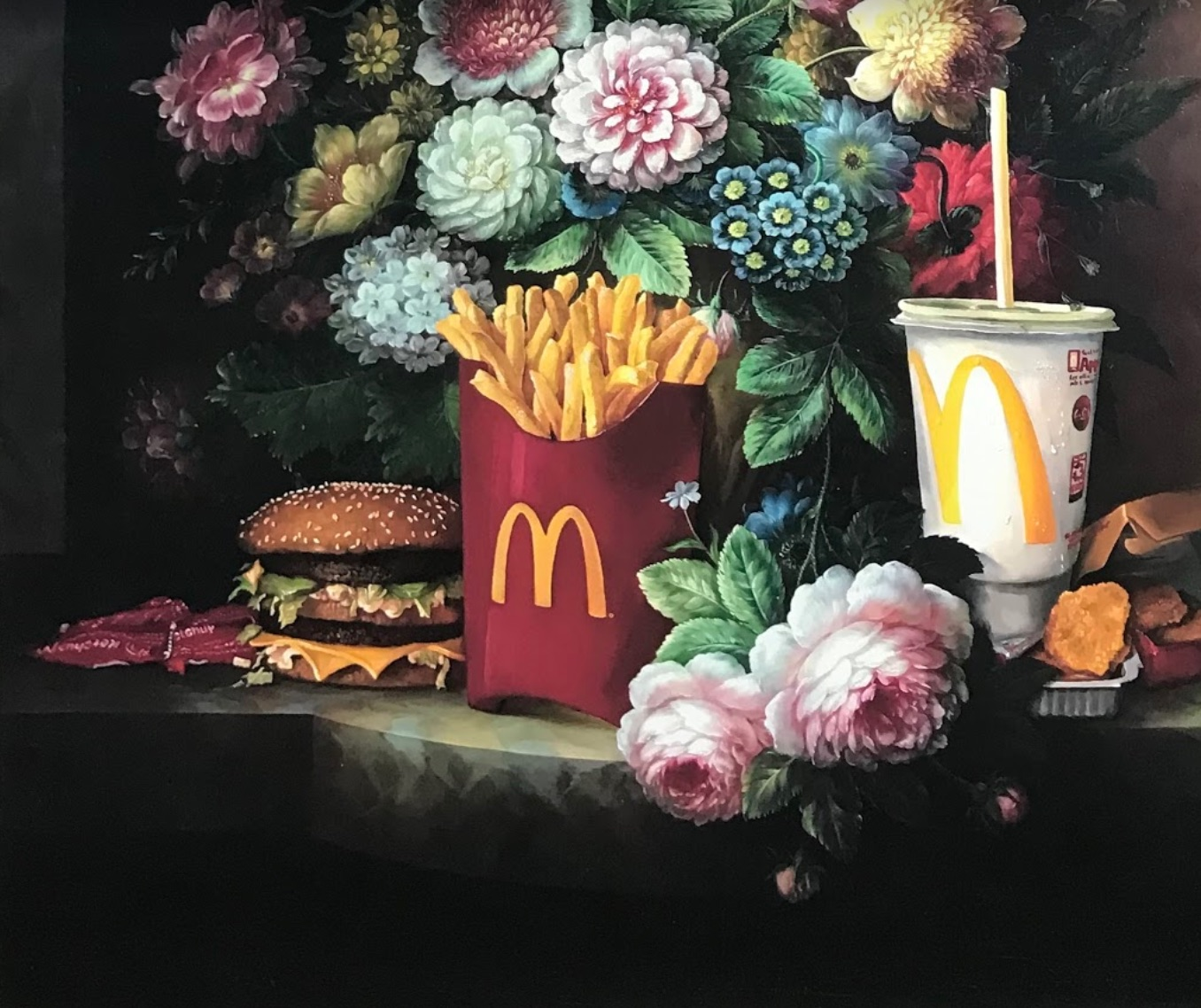 Calorie Composition I with Extra Pickles, Sweet and Sour Sauce by Dave Pollot (Detail 2)