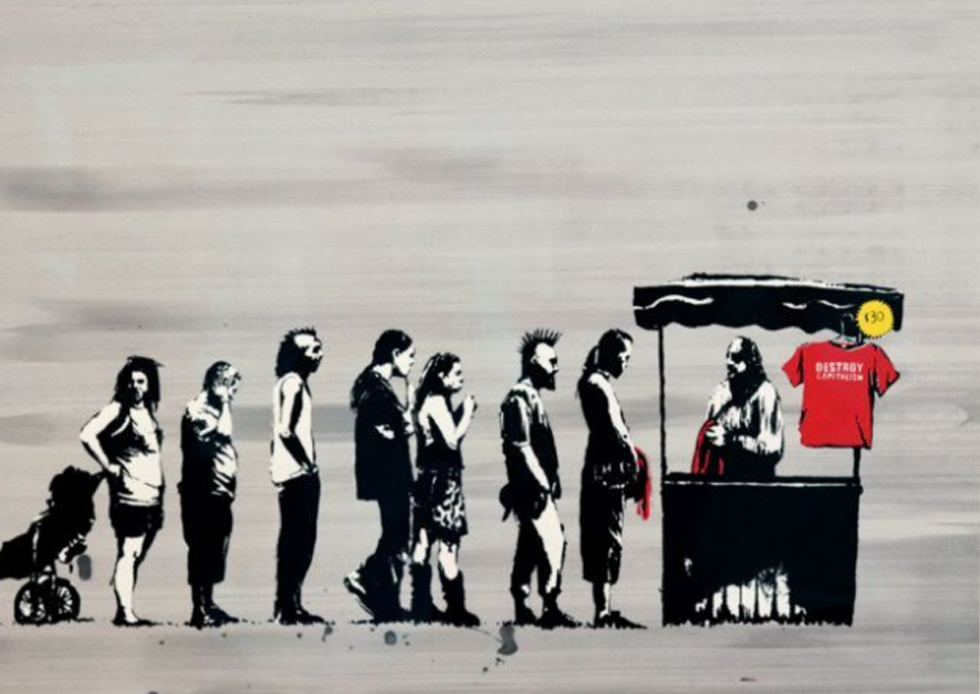 Festival (Destroy Capitalism) by Banksy