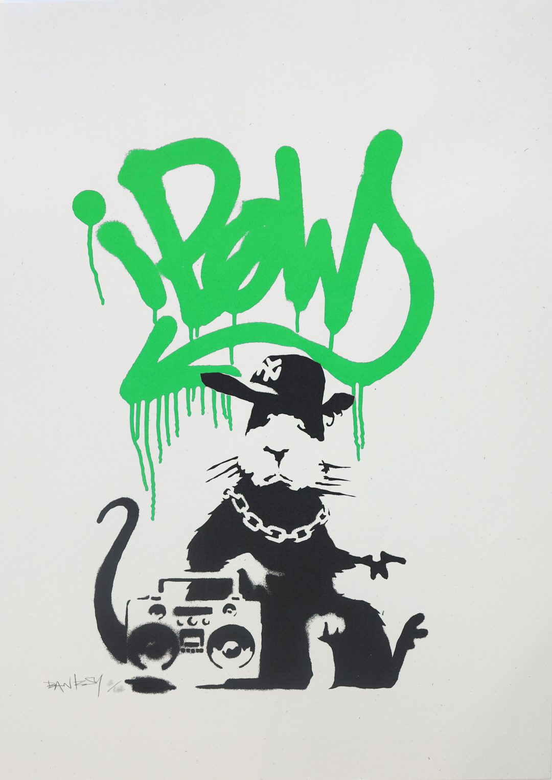 Gangsta Rat (Green) by Banksy