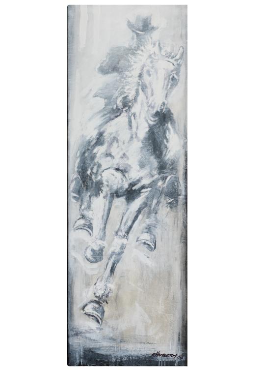 Horse and Rider (White) by Richard Hambleton