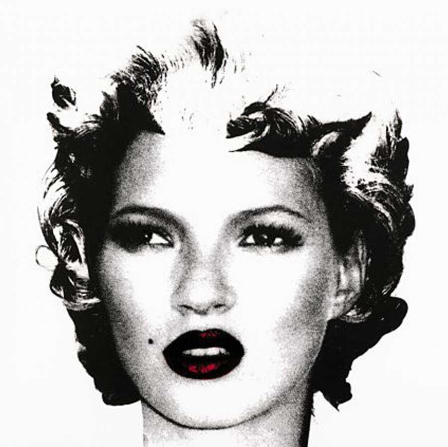 Kate Moss (Black and White) by Banksy