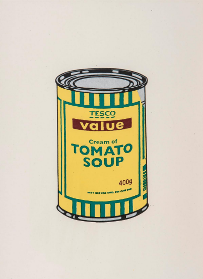 Soup Can (Sage Green/Blue/Brown) by Banksy