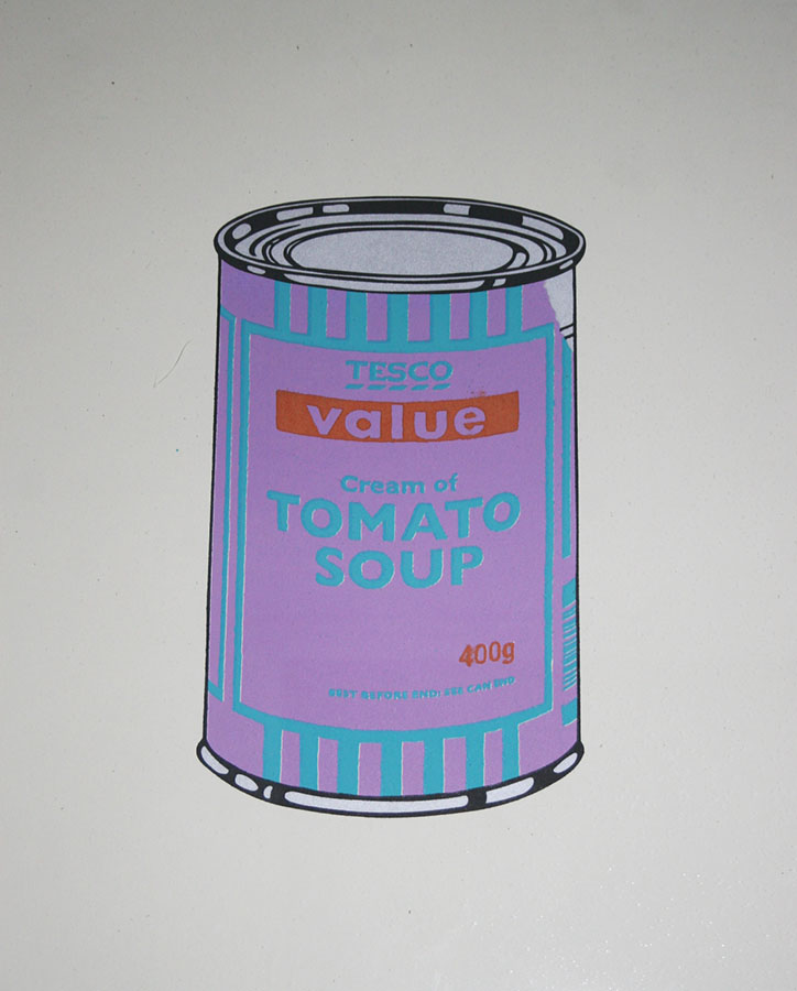 Soup Can (Violet:Blue:Tan) by Banksy