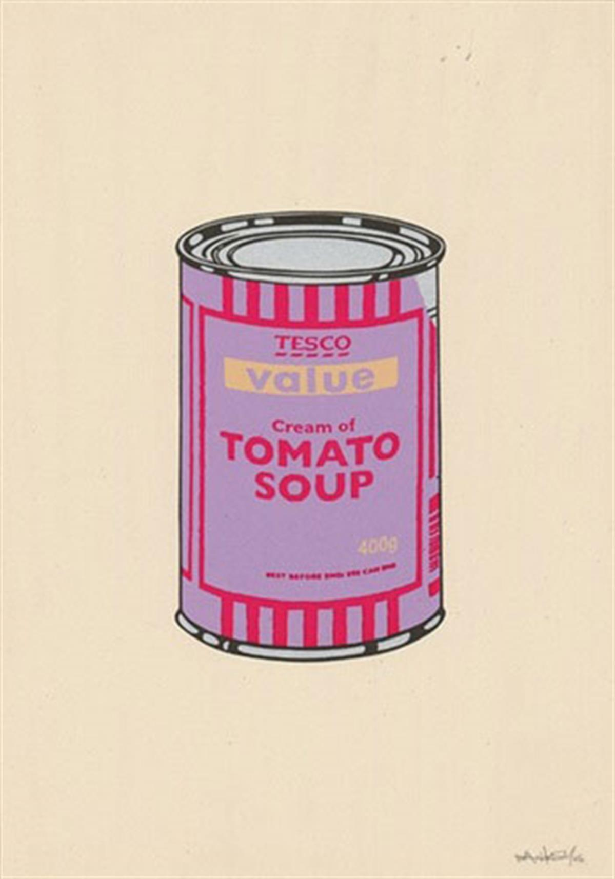 Soup Can (Violet:Cherry:Beige) by Banksy