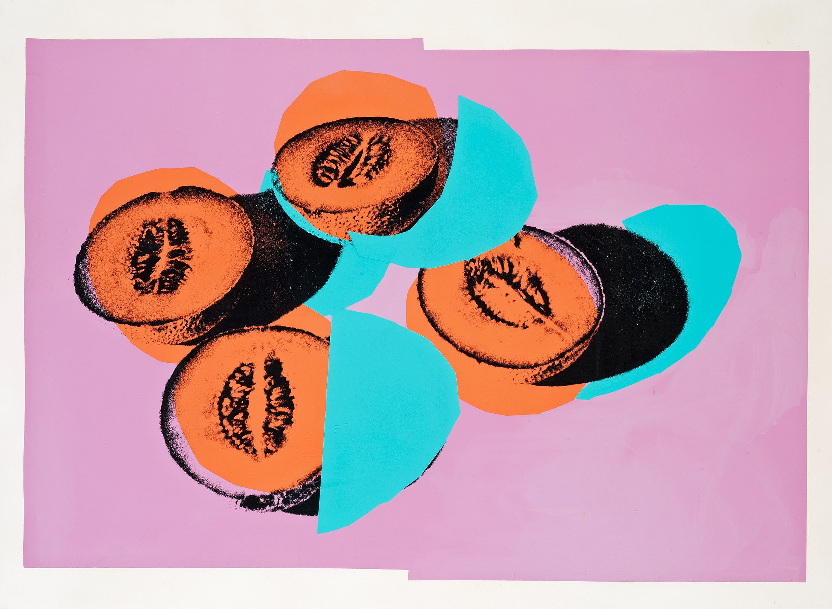 Space Fruit- Still Lives – Cantaloupes II by Andy Warhol
