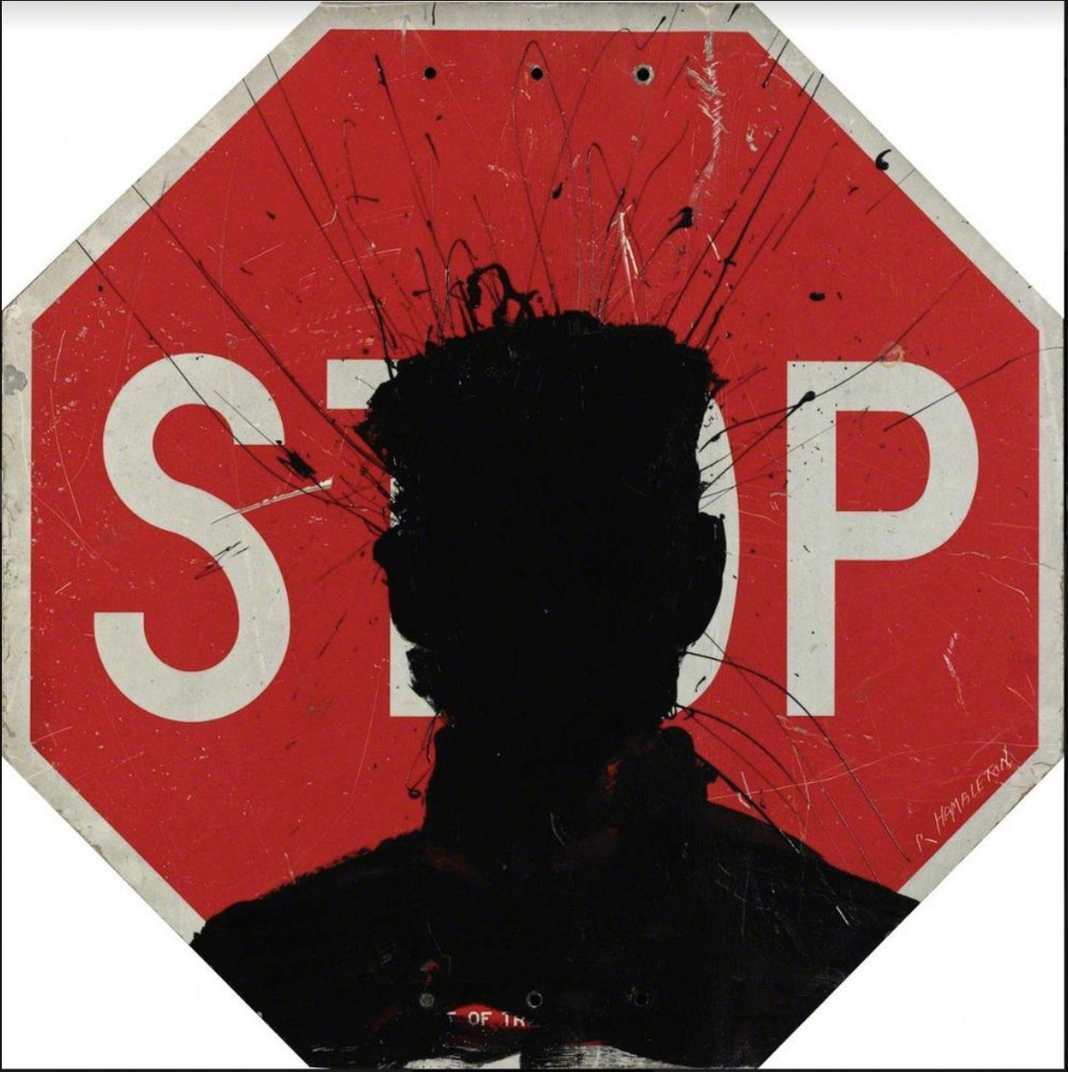 Stop Sign by Richard Hambleton