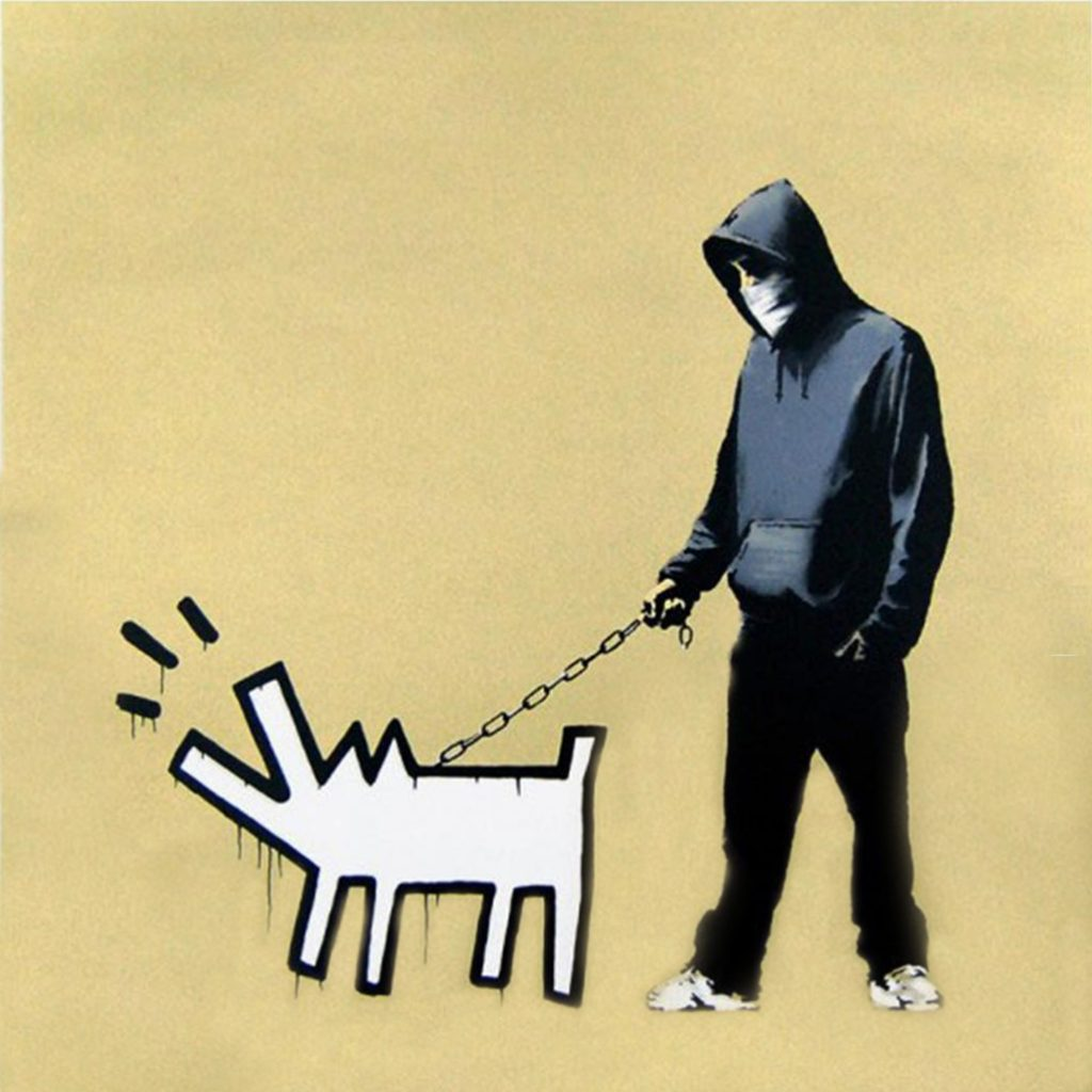 Choose Your Weapon (Gold) by Banksy