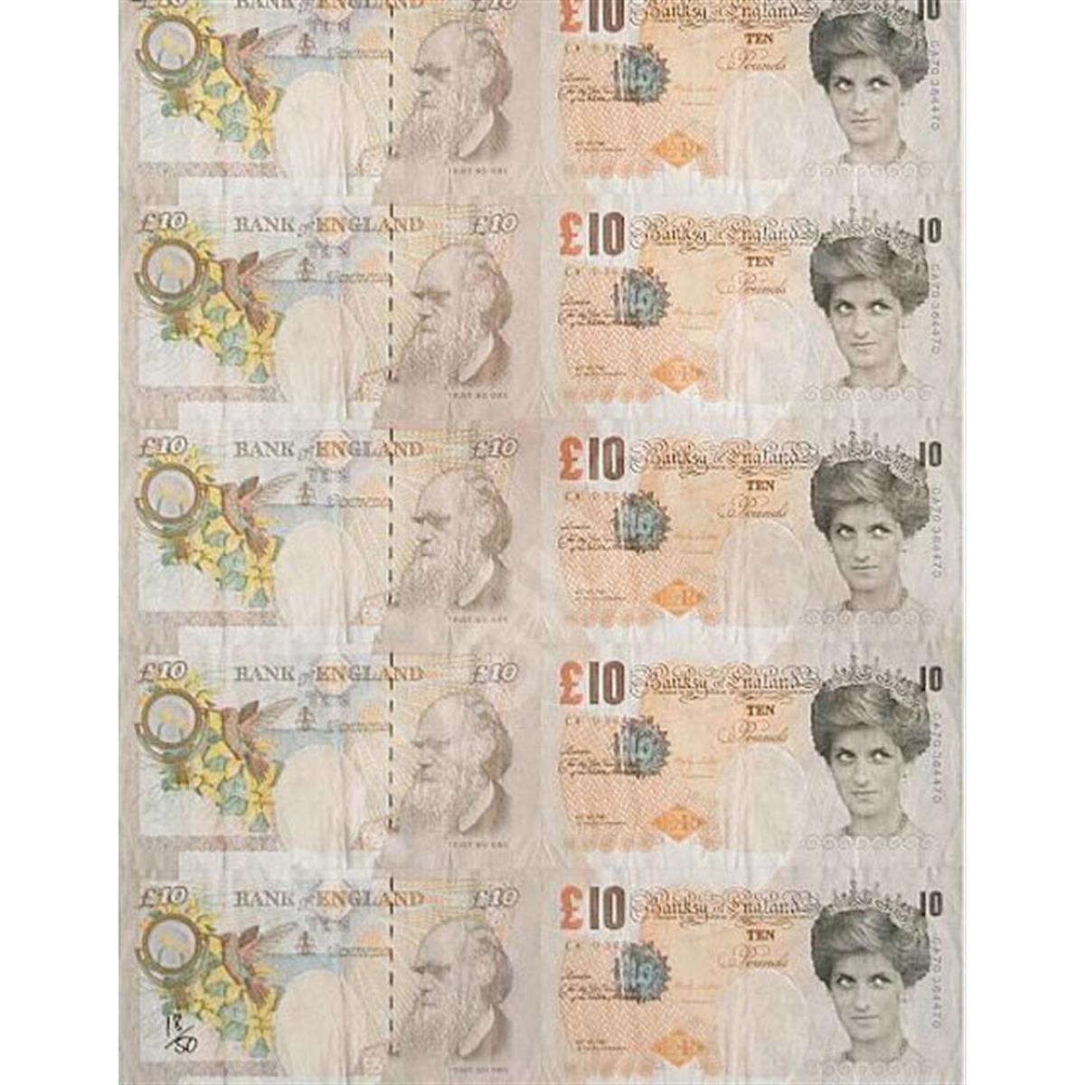 Di Faced Tenner by Banksy