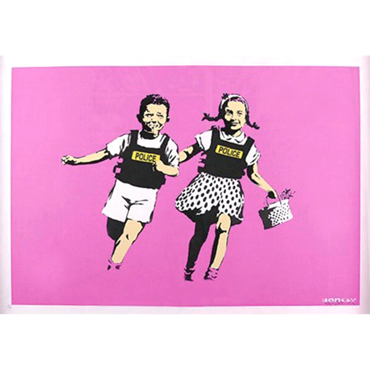 Jack and Jill (Police Kids) (Pink) by Banksy