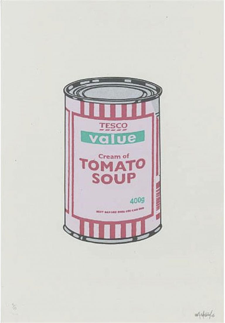 Soup Can (Pale Lilac/Cherry/Mint) By Banksy