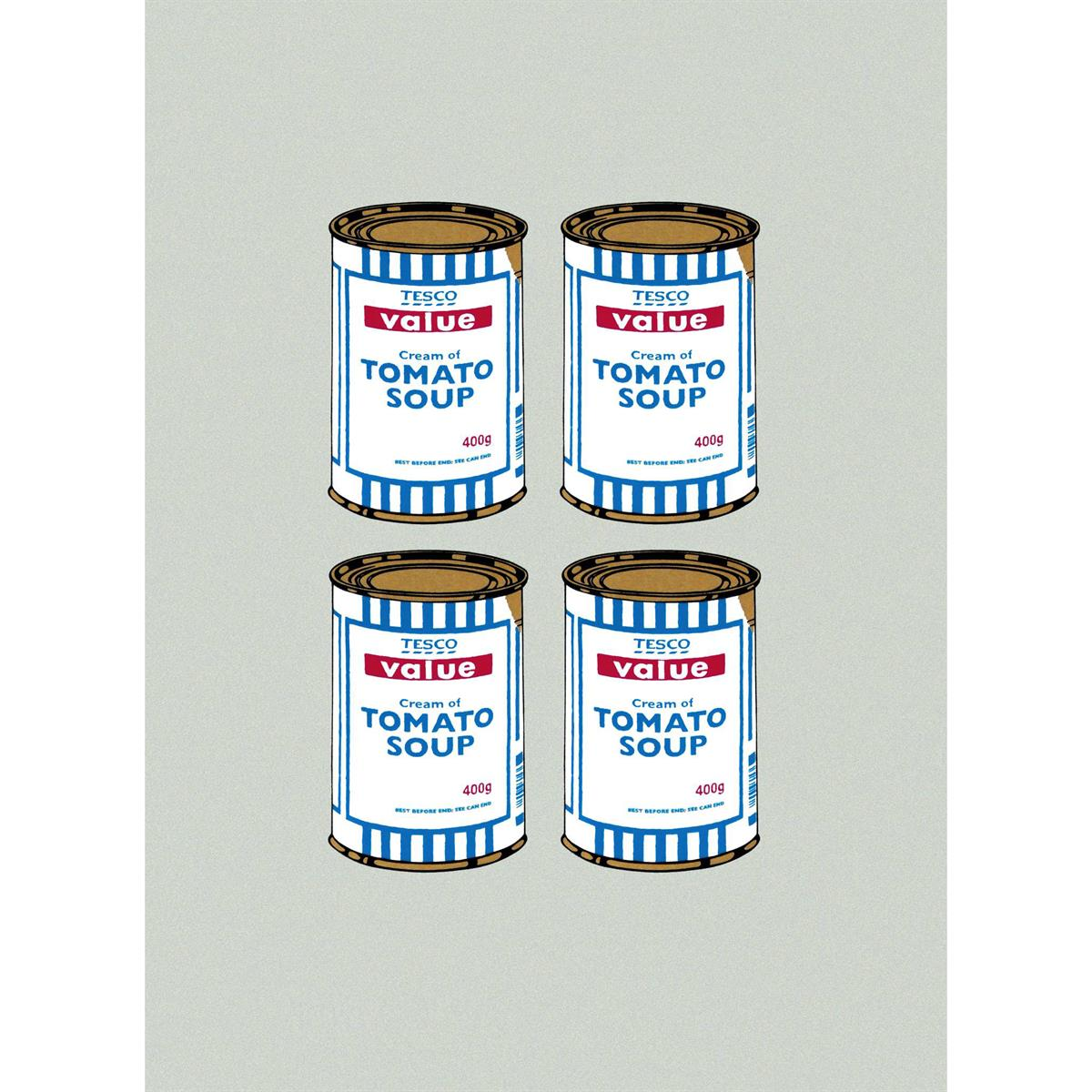 Soup Cans Quad (Grey Paper) by Banksy