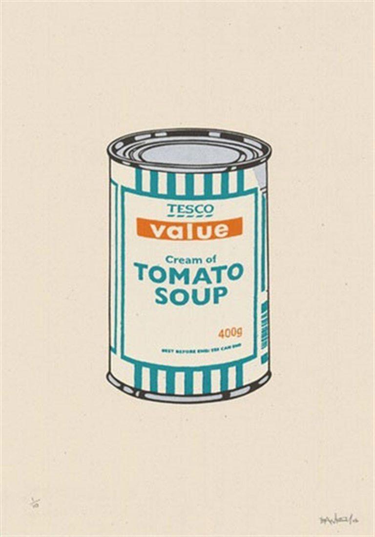 Soup Can (White/Emerald/Tan) by Banksy