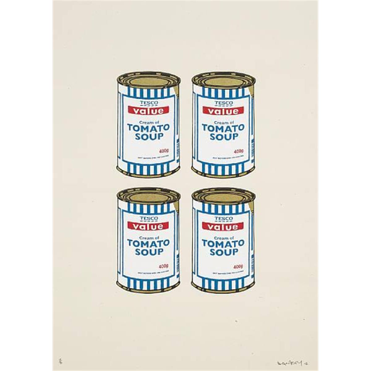 Soup Cans Quad (Cream Paper) by Banksy