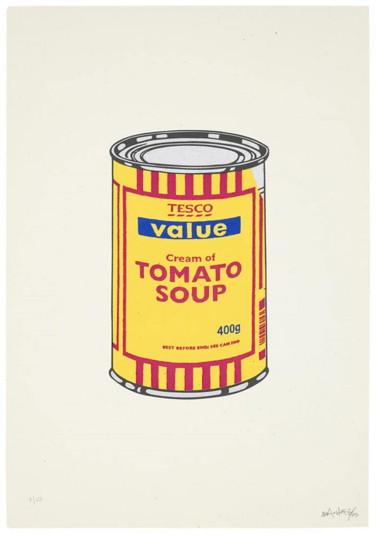Soup Can (Banana/Cherry/Dark Blue) By Banksy